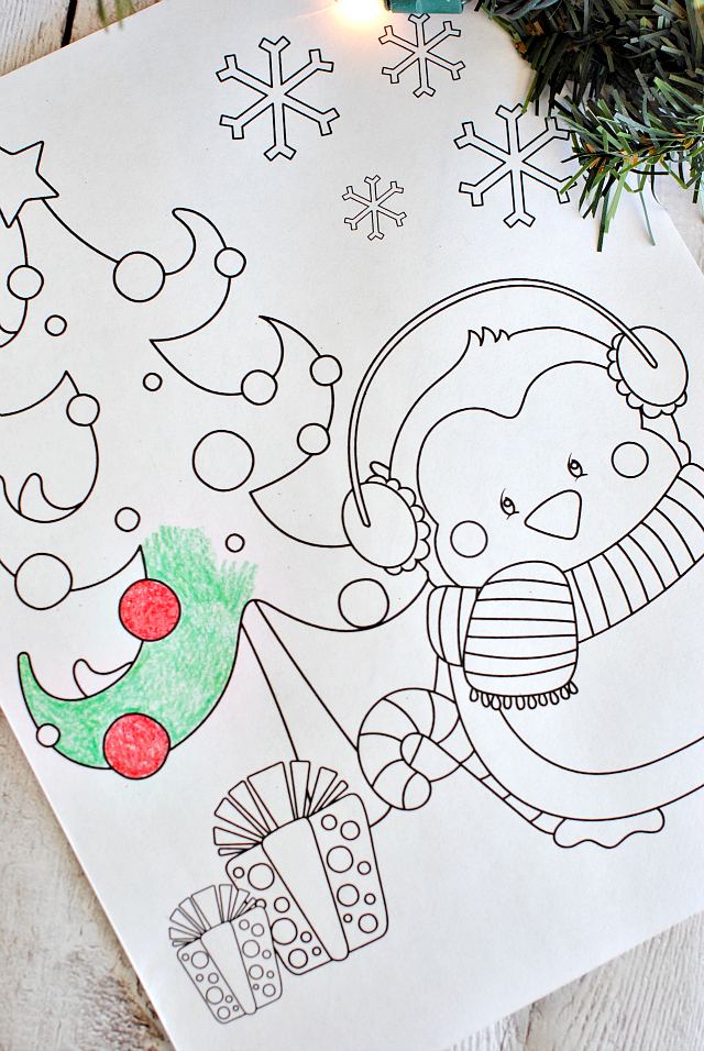 choose from one of four awesome christmas coloring pages from crazy little projects im partial to this sweet little penguin myself