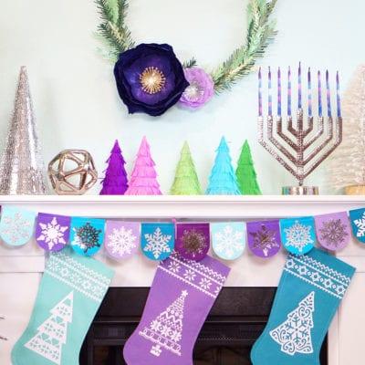 Chrismukkah Holiday Crafts with Cricut Maker