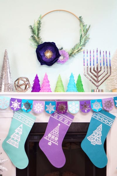 Chrismukkah Holiday Crafts with Cricut Maker