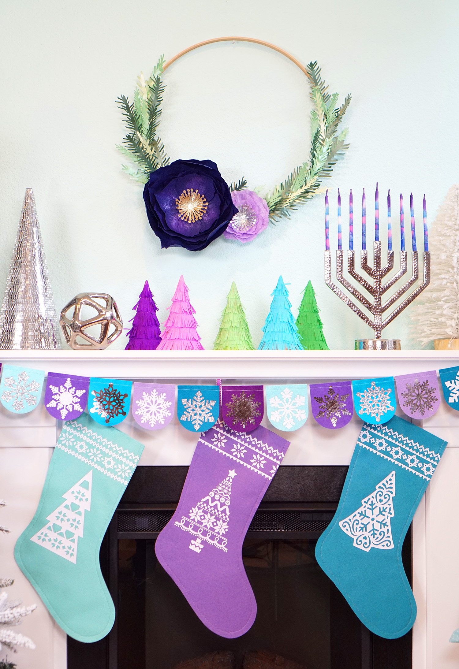 Hanukkah Christmas Stocking.Chrismukkah Holiday Crafts With Cricut Maker Happiness Is