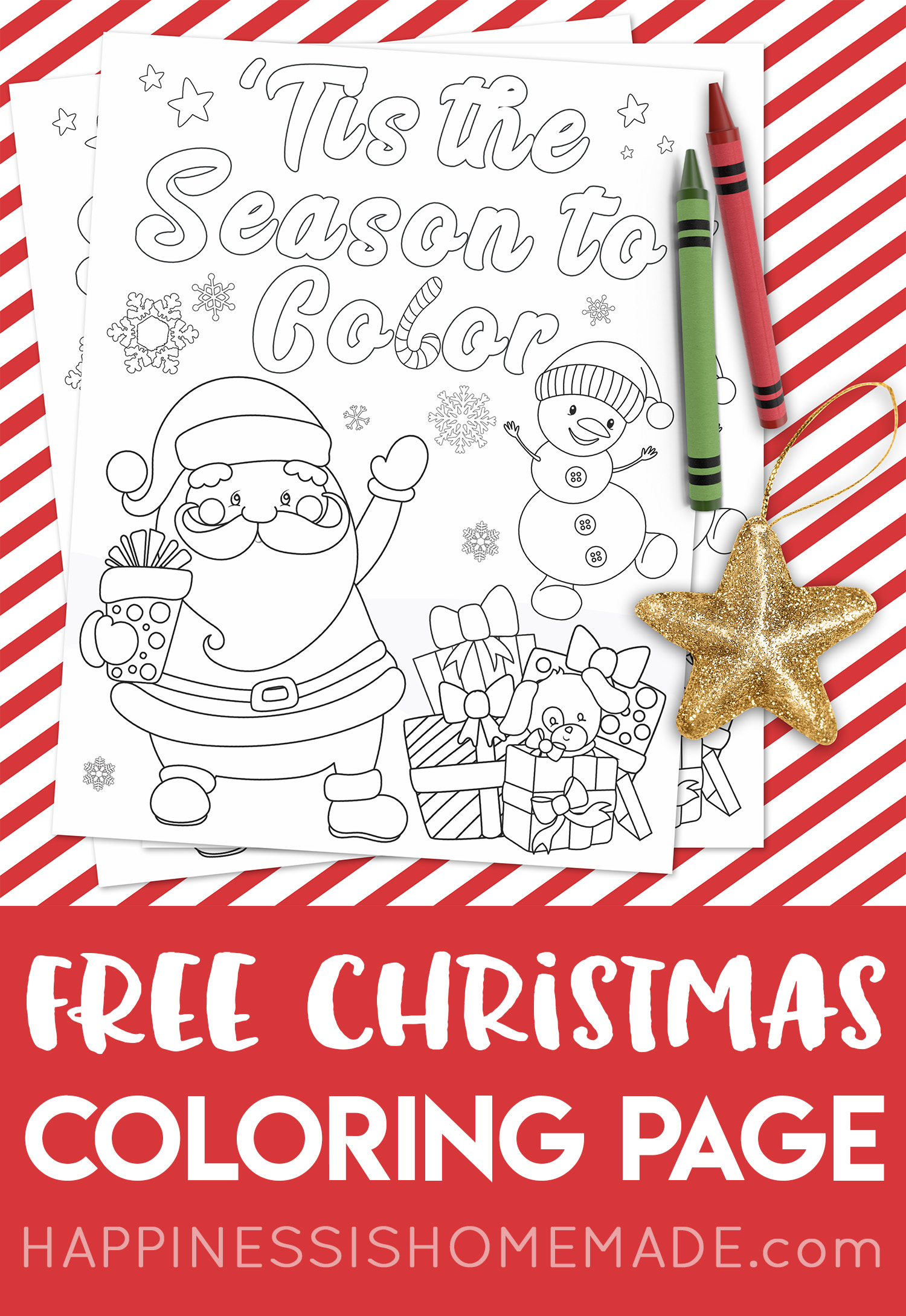 FREE Christmas Coloring Page - 'Tis the Season to Color ...