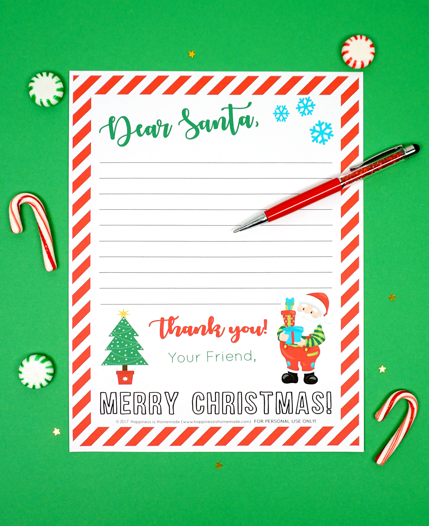 photograph relating to Printable Christmas Letters known as No cost Printable Letter toward Santa - Joy is Selfmade