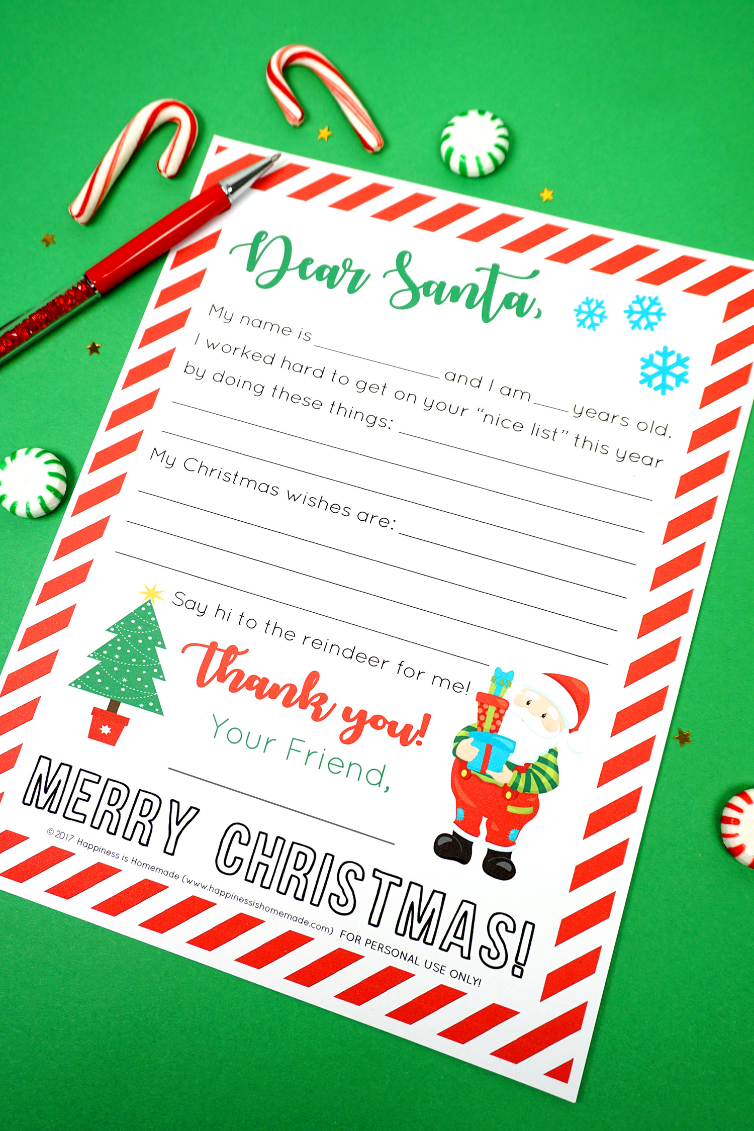 picture about Printable Letters From Santa identified as Totally free Printable Letter towards Santa - Contentment is Handmade