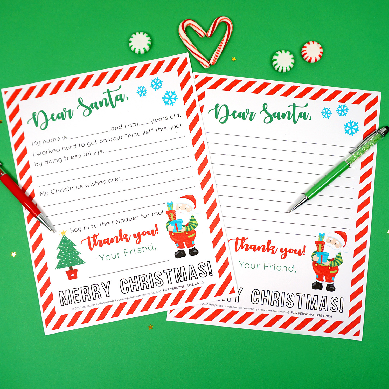 photo relating to Printable Christmas Letters titled Absolutely free Printable Letter in the direction of Santa - Joy is Handmade