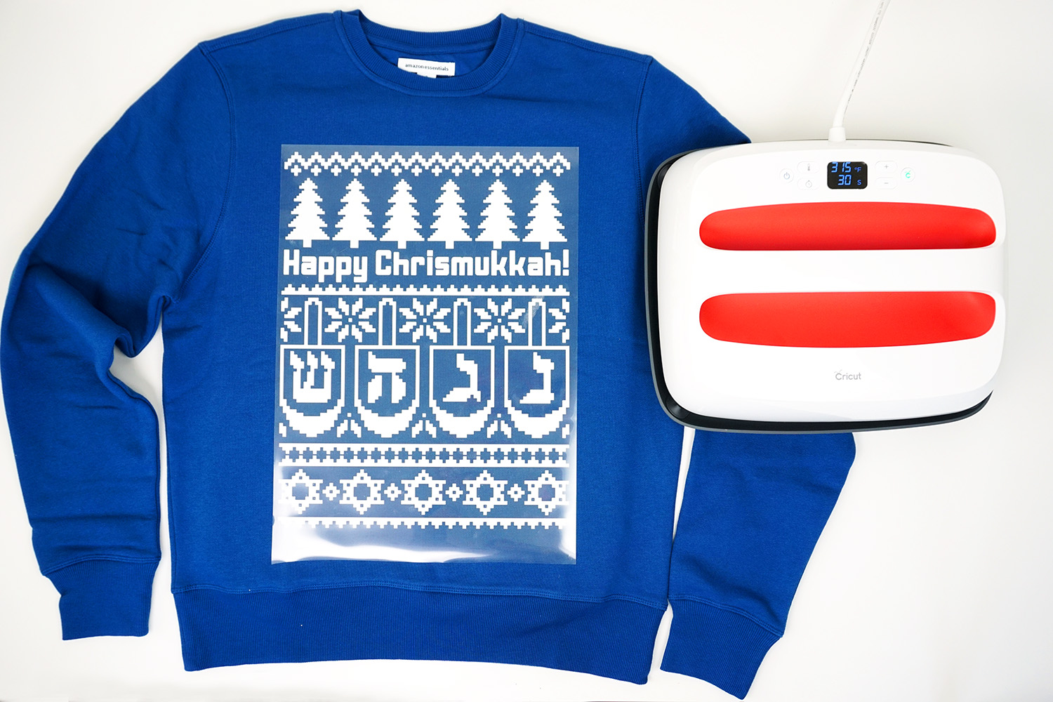 DIY Chrismukkah Shirts with Cricut - Happiness is Homemade