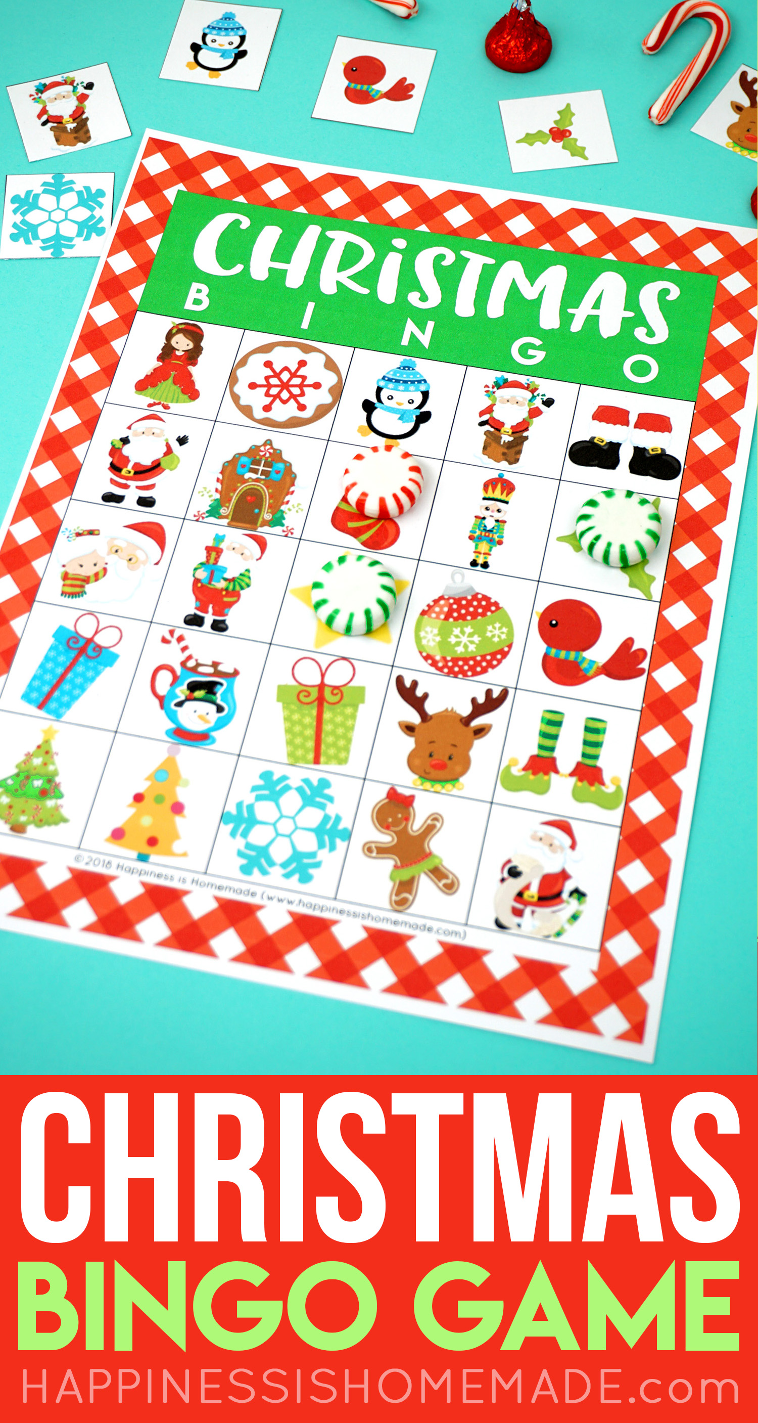 graphic regarding Printable Christmas Bingo named Printable Xmas Bingo Recreation - Contentment is Do-it-yourself