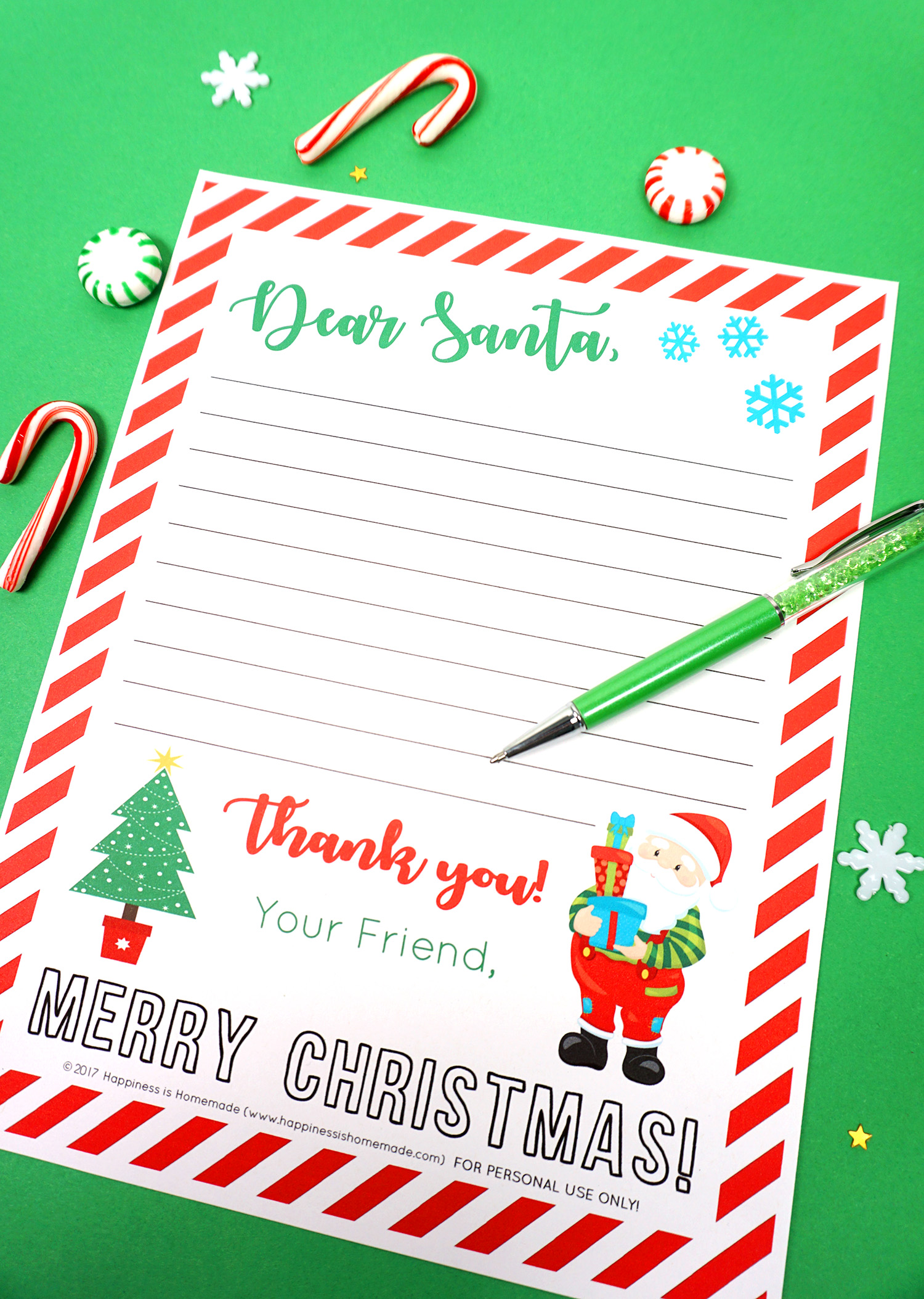 photograph relating to Free Printable Letters From Santa identify Cost-free Printable Letter in direction of Santa - Pleasure is Selfmade