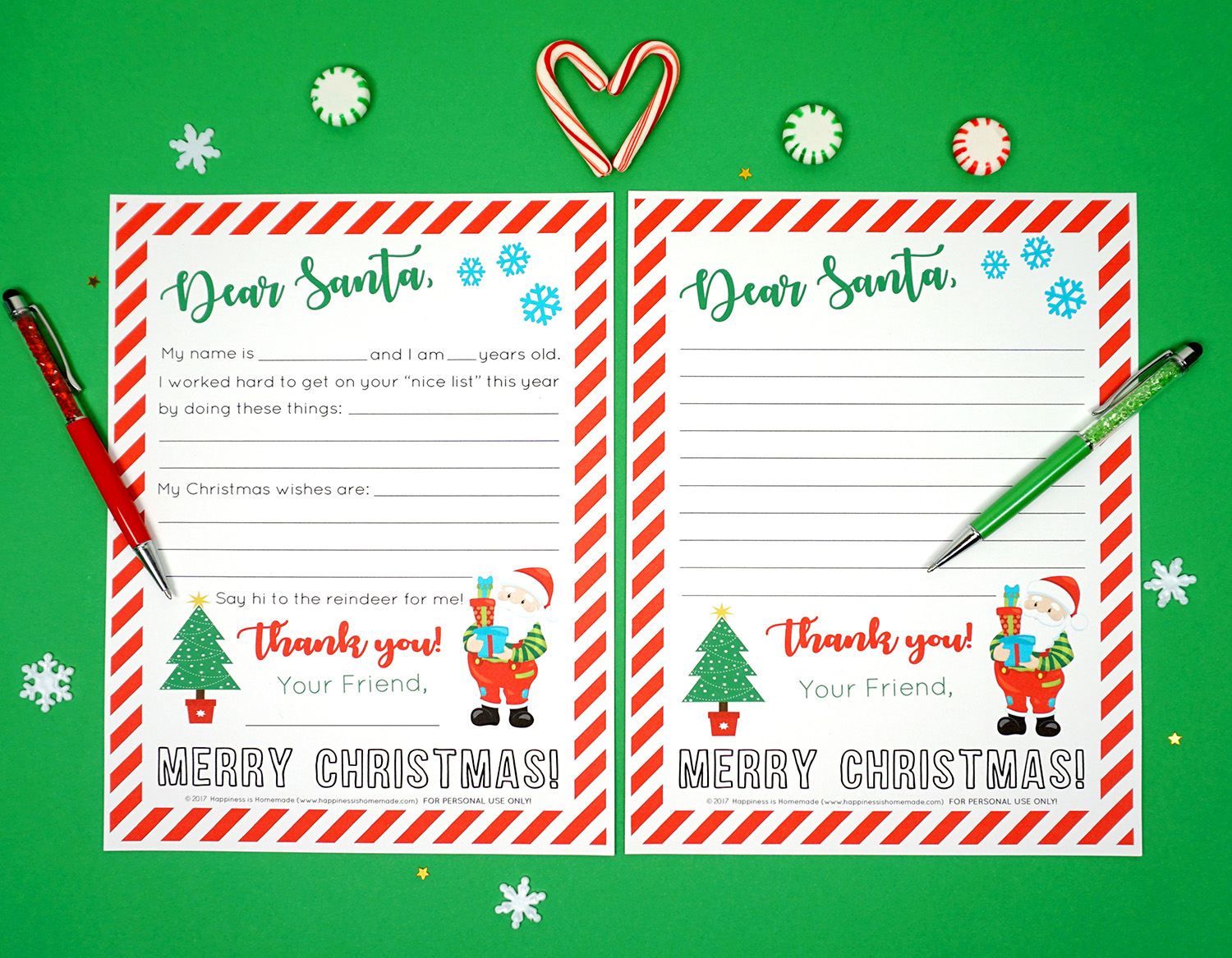 photo relating to Printable Christmas Letters called Totally free Printable Letter towards Santa - Contentment is Do-it-yourself