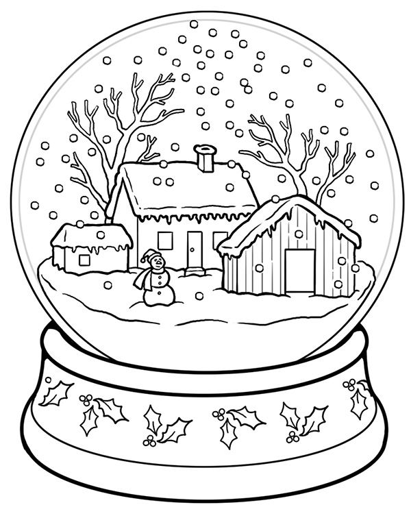 educationcom brings you this sweet snow globe coloring page
