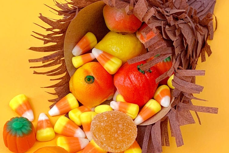 Candy Cornucopia Thanksgiving Craft