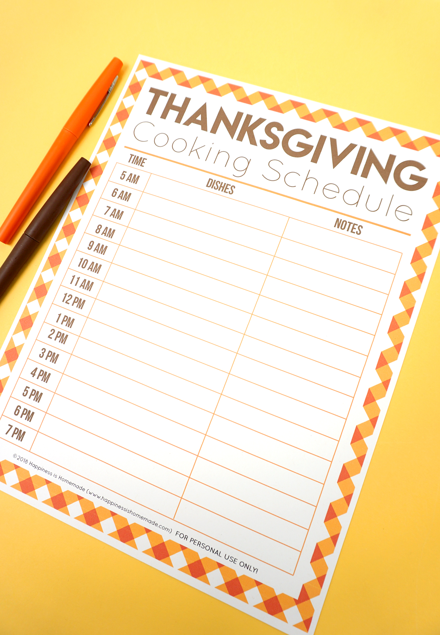 After You Have The Menu Planned Out Use Our Printable Thanksgiving Cooking Schedule To Plan Your Times Throughout Day