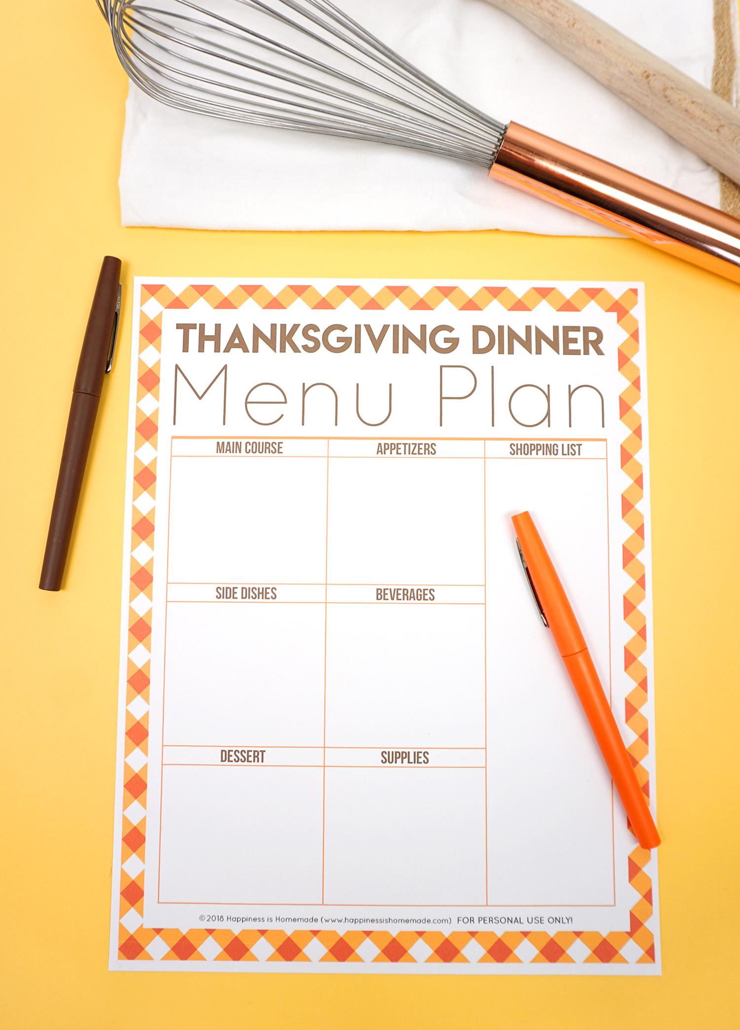 photo regarding Thanksgiving Menu Planner Printable titled Free of charge Thanksgiving Printables - Menu Planner, Visitor Record