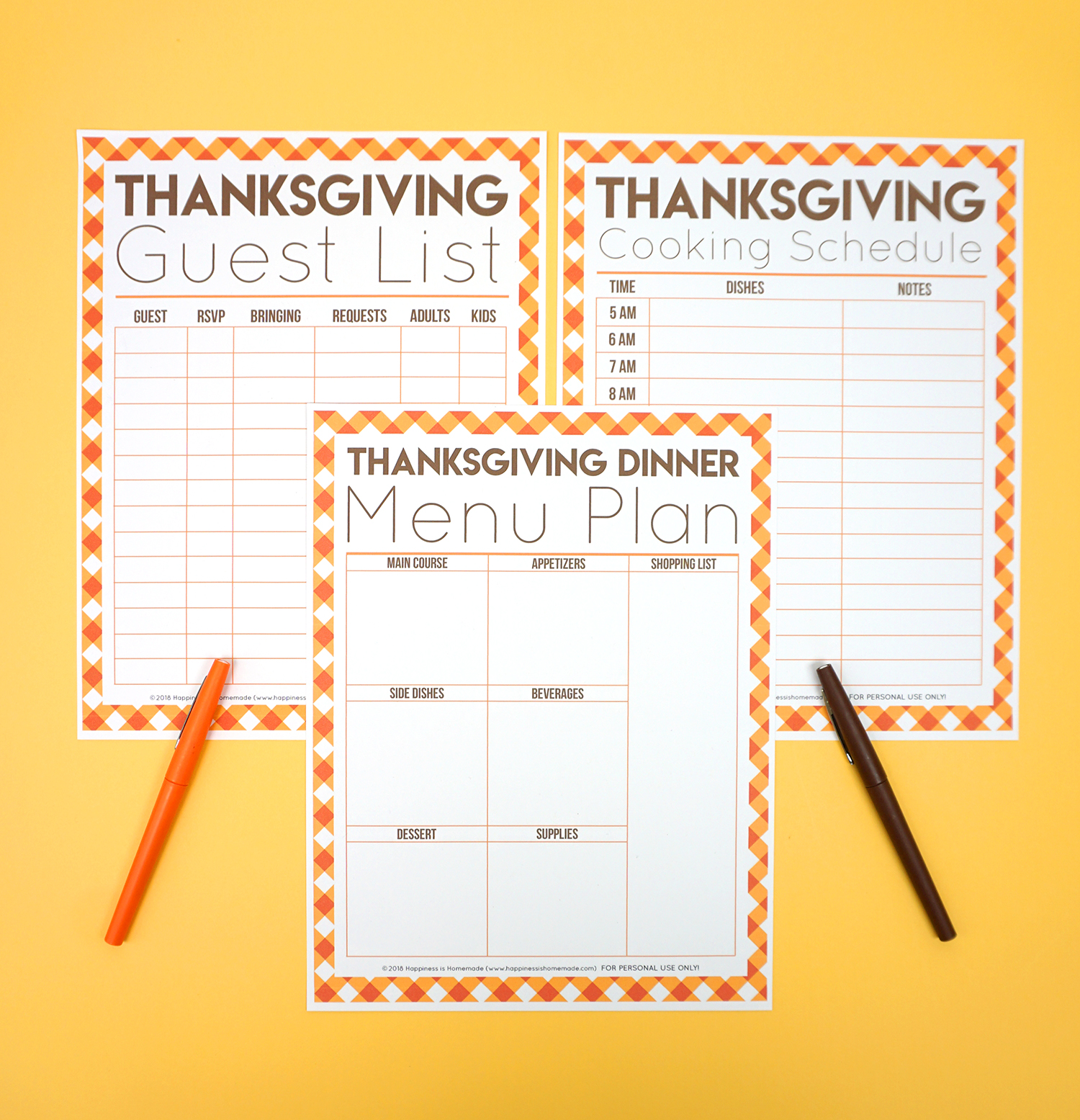 It is a graphic of Transformative Thanksgiving Planner Printable