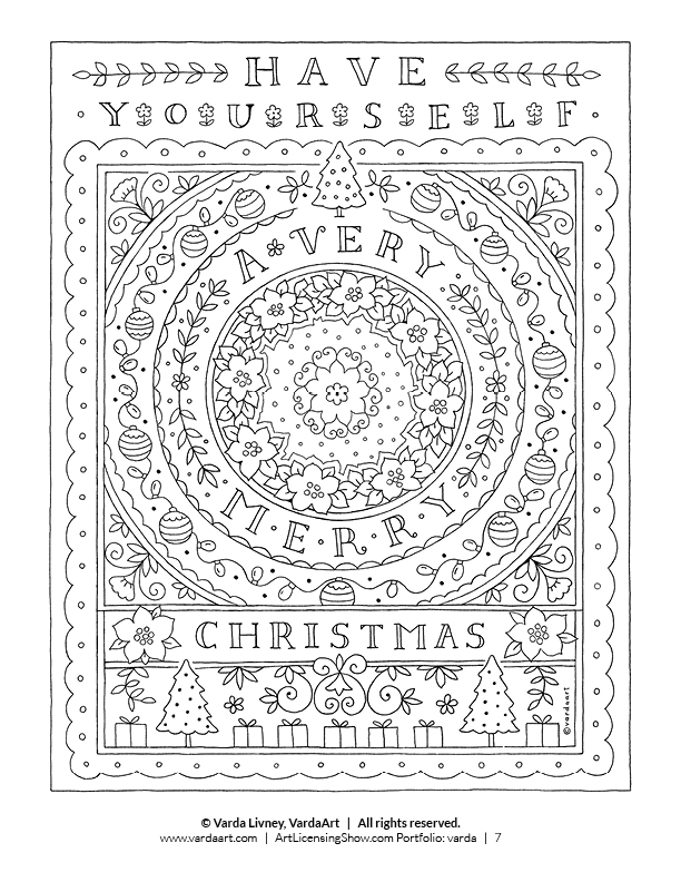 free christmas coloring pages to print for adults FREE Christmas Coloring Pages for Adults and Kids   Happiness is  free christmas coloring pages to print for adults