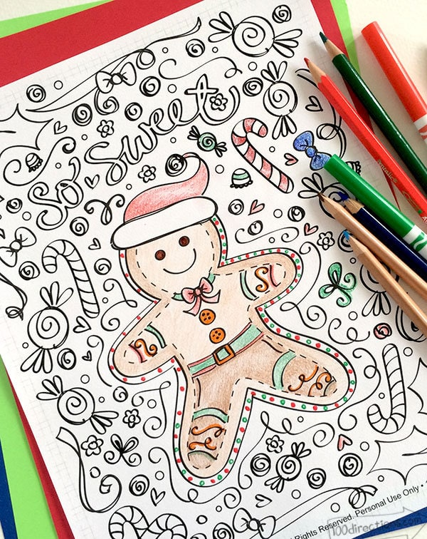 free printable christmas coloring pages this gingerbread man