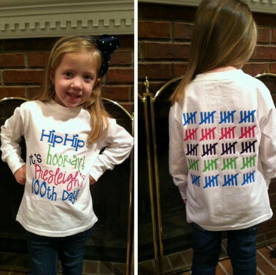 Easy 100 Days of School Shirt Ideas , Happiness is Homemade