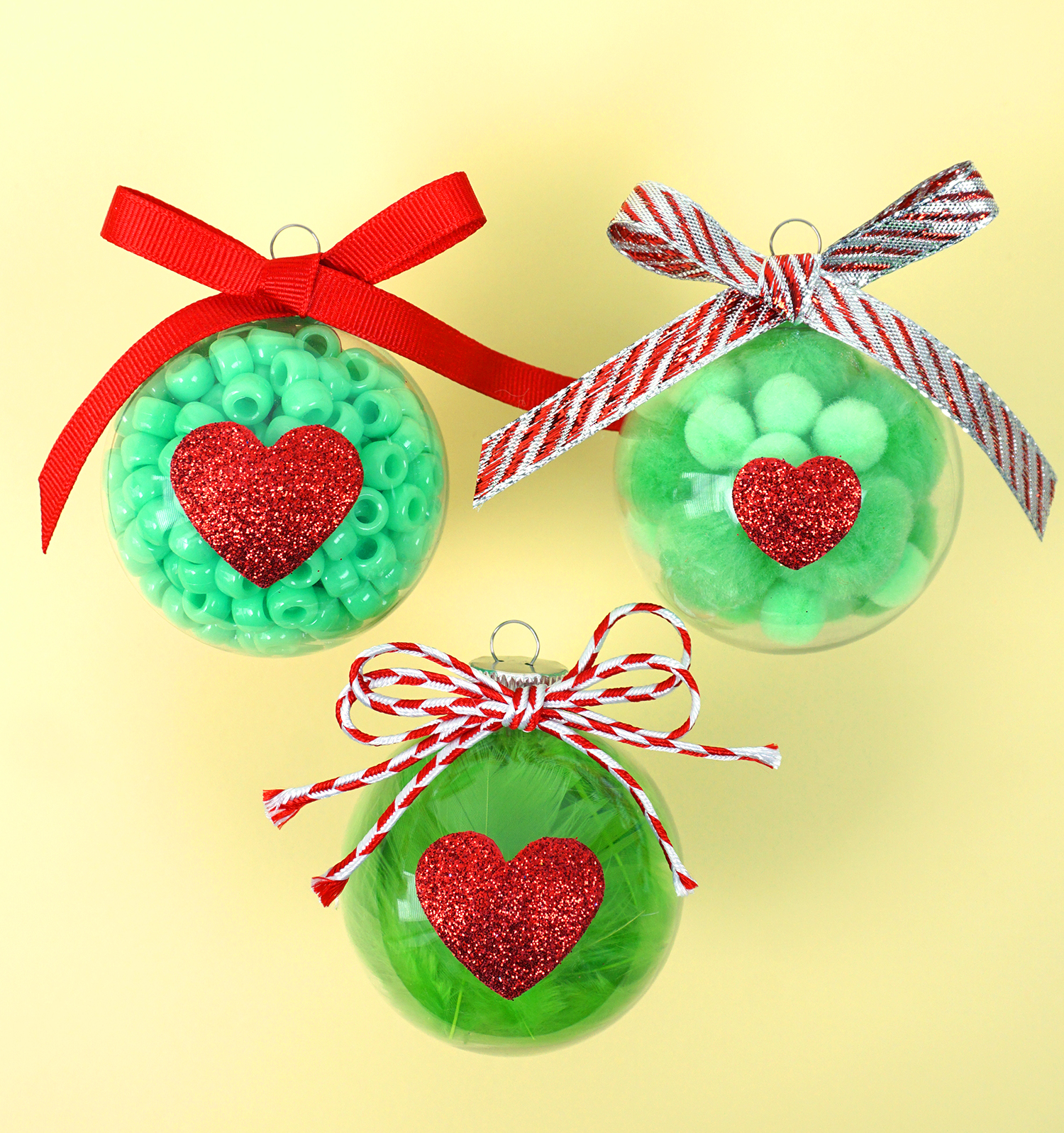 Christmas Kids Craft: Grinch Ornaments - Happiness is Homemade