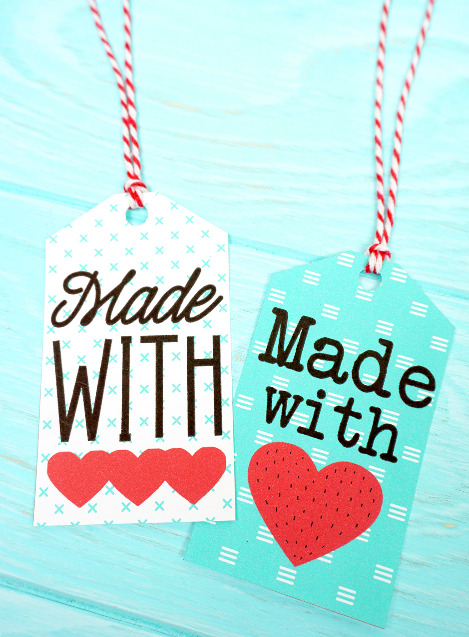 photo about Printable Tags referred to as Developed with Take pleasure in Printable Reward Tags - Joy is Home made