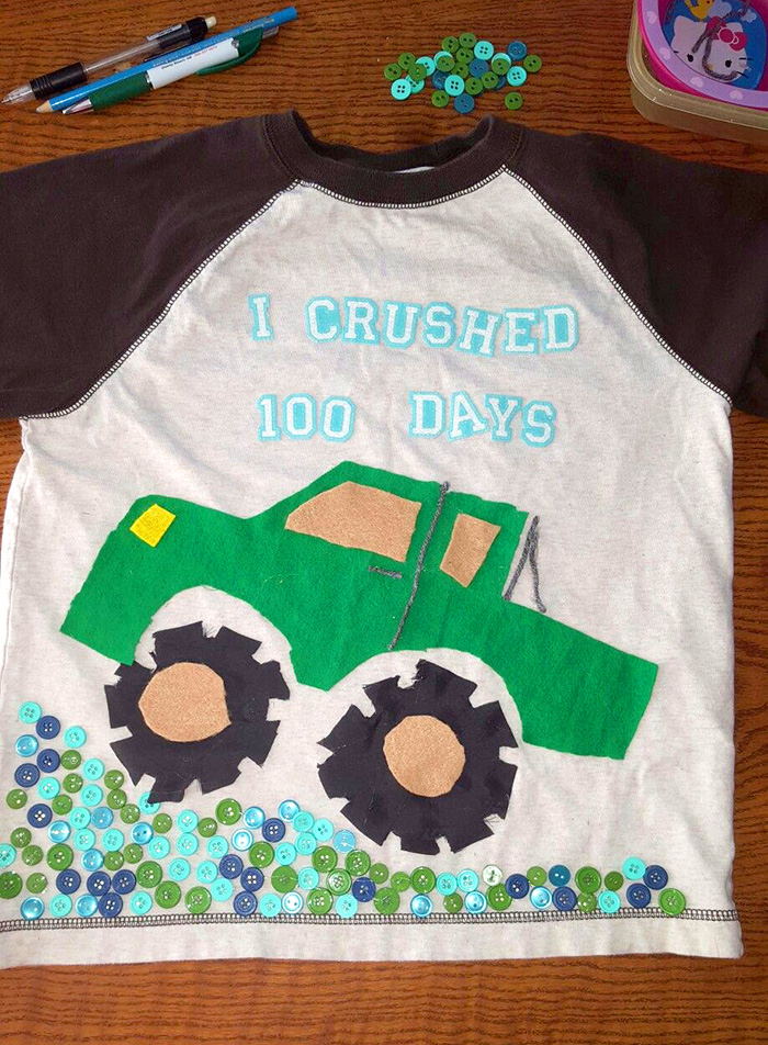 1cf8121f799 Easy 100 Days of School Shirt Ideas - Happiness is Homemade