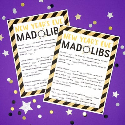 New Year's Eve Mad Libs Printable