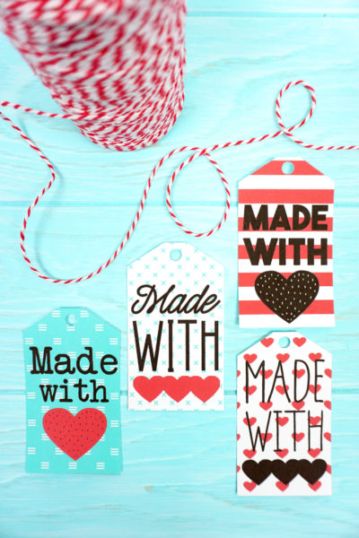 Printable Made with Love Gift Tags