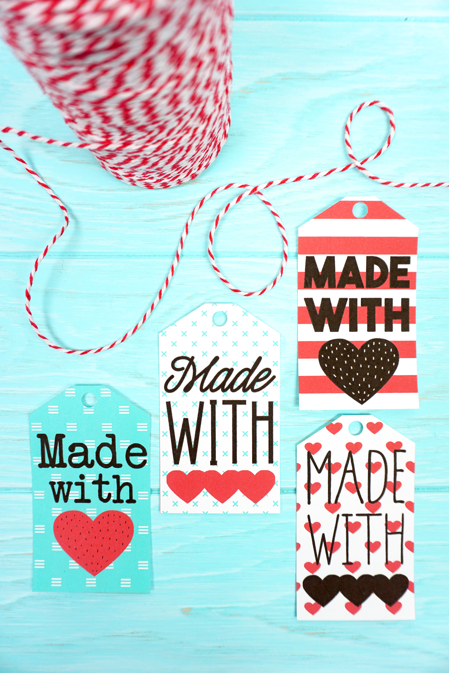 image relating to Printable Gifts identified as Produced with Take pleasure in Printable Reward Tags - Pleasure is Selfmade
