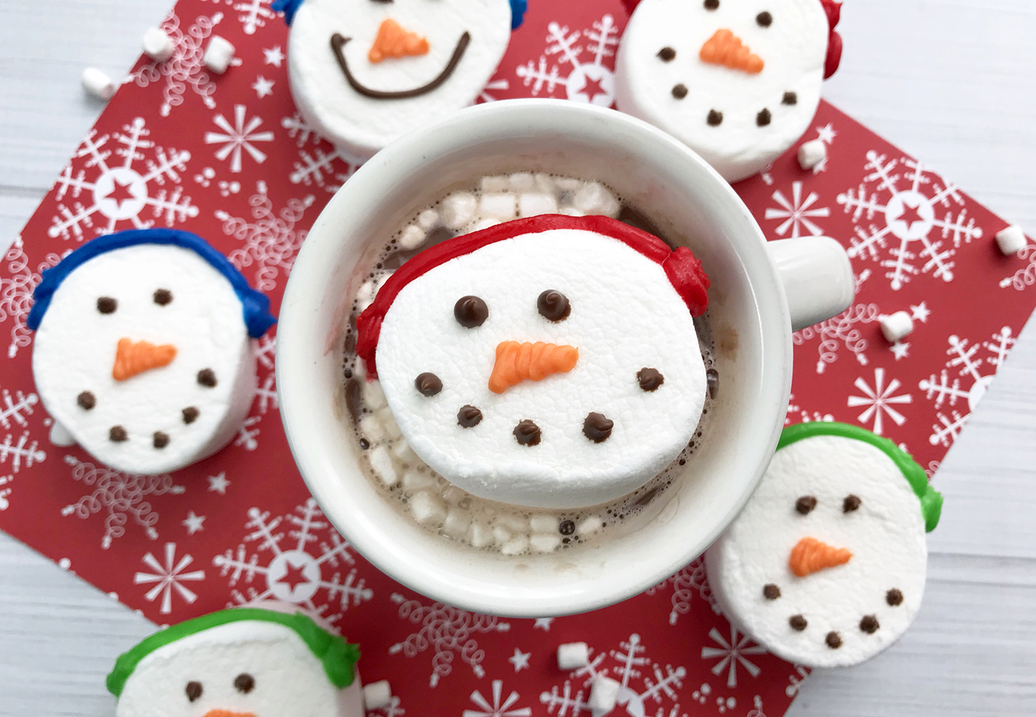 Cute Snowman Marshmallows Happiness Is Homemade