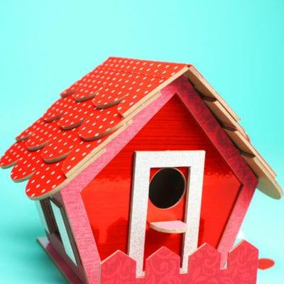Birdhouse Valentine Box with Cricut