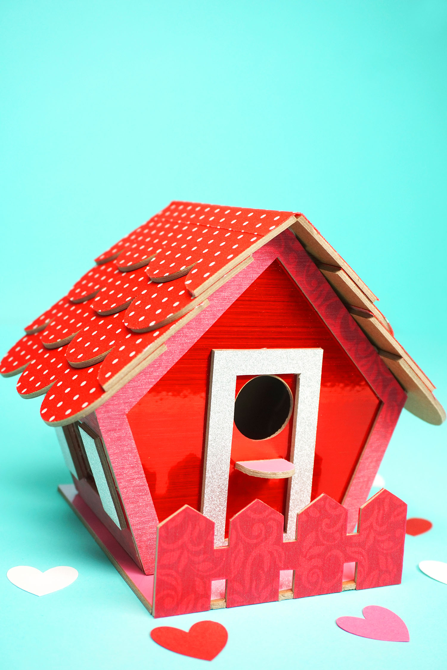 Birdhouse Valentine Box With Cricut Happiness Is Homemade