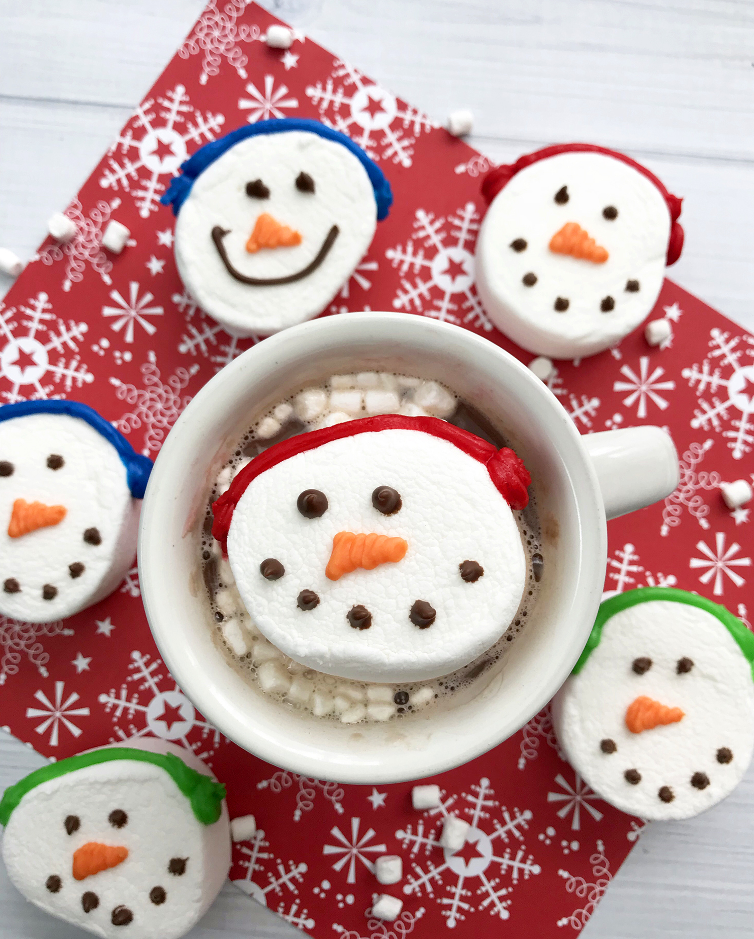 Cute Easy Snowman Marshmallows