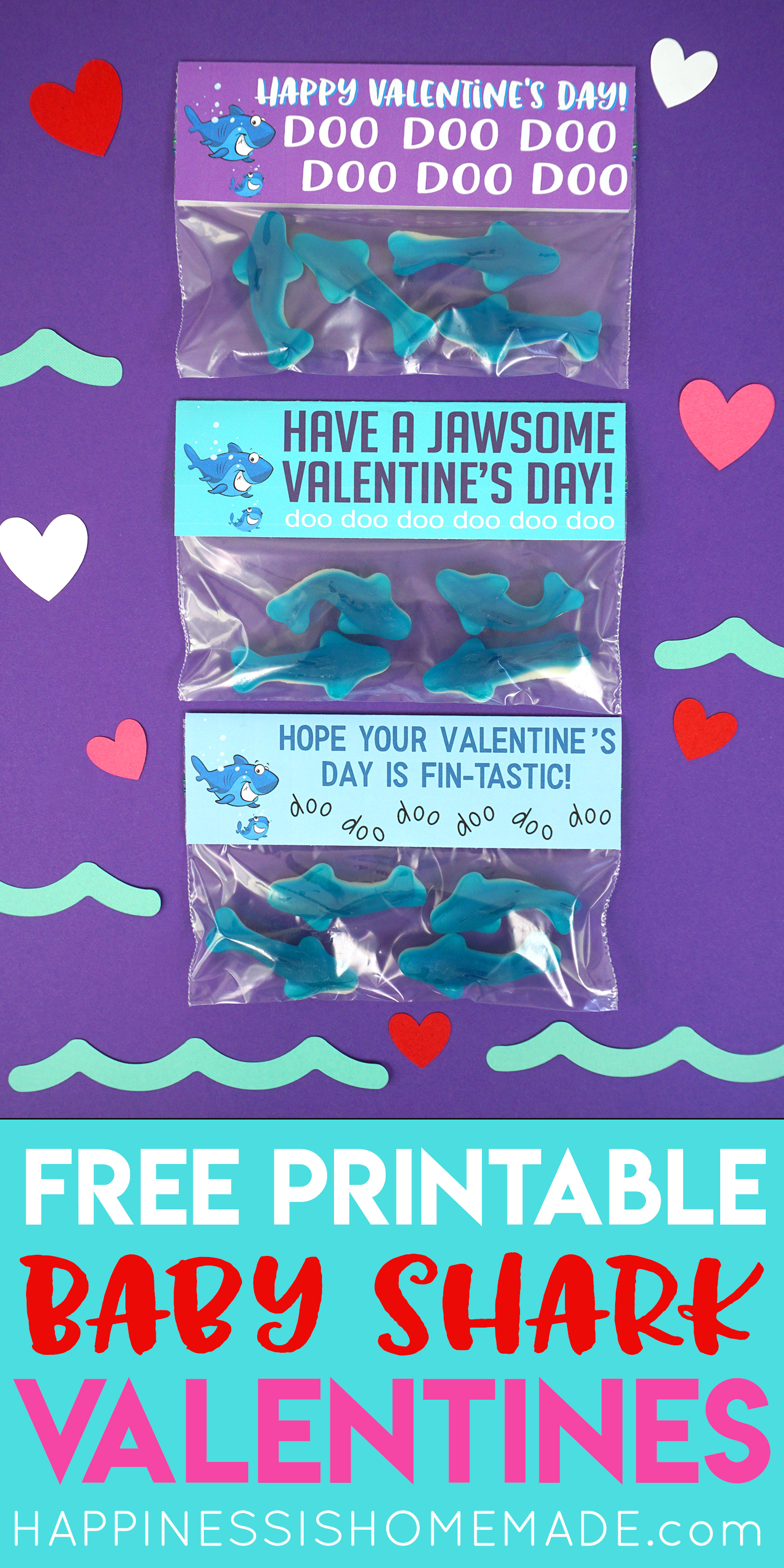 Baby Shark Valentines Cards Happiness Is Homemade