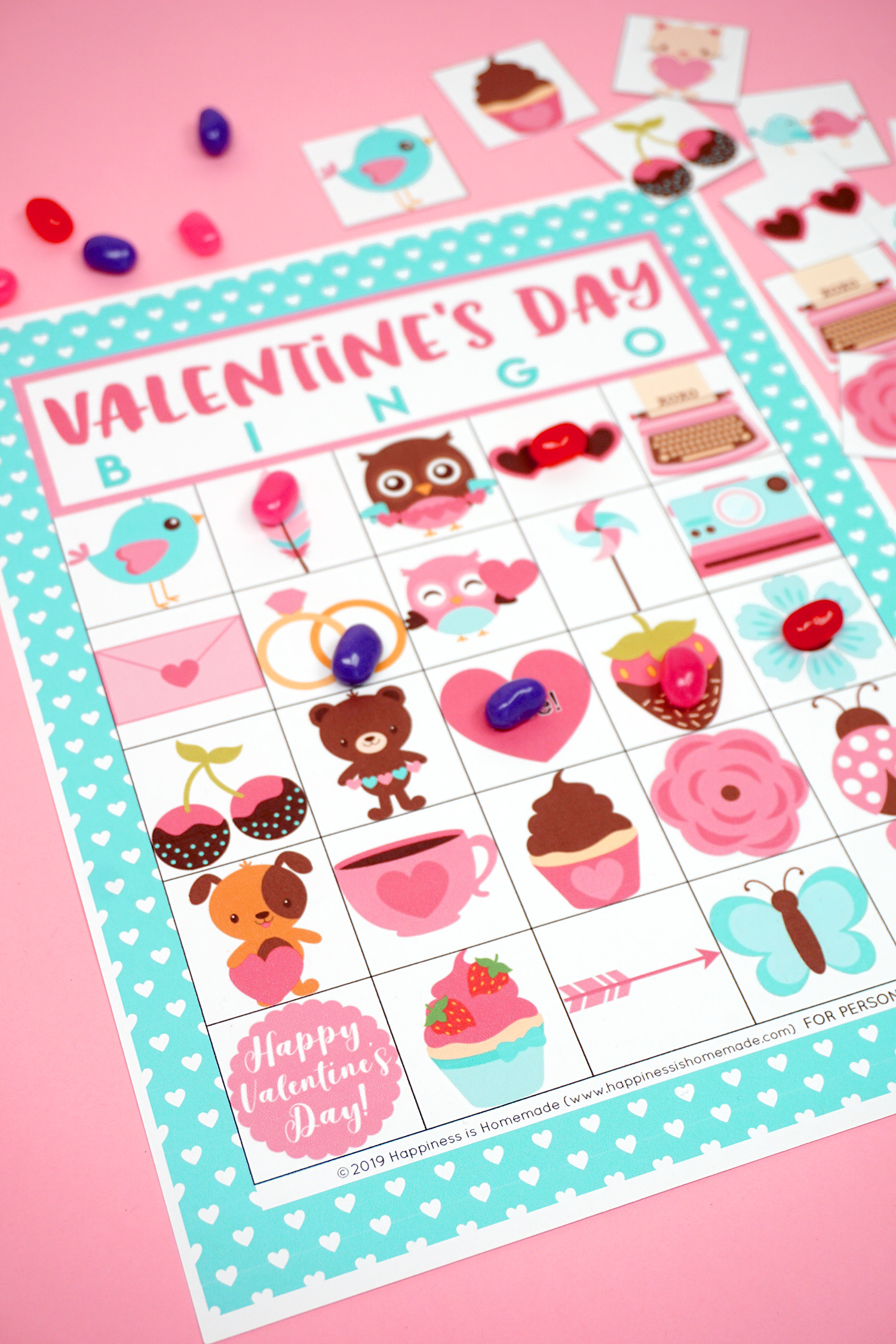 photograph relating to Printable Valentine Bingo Cards identified as Absolutely free Printable Valentine Bingo - Joy is Selfmade