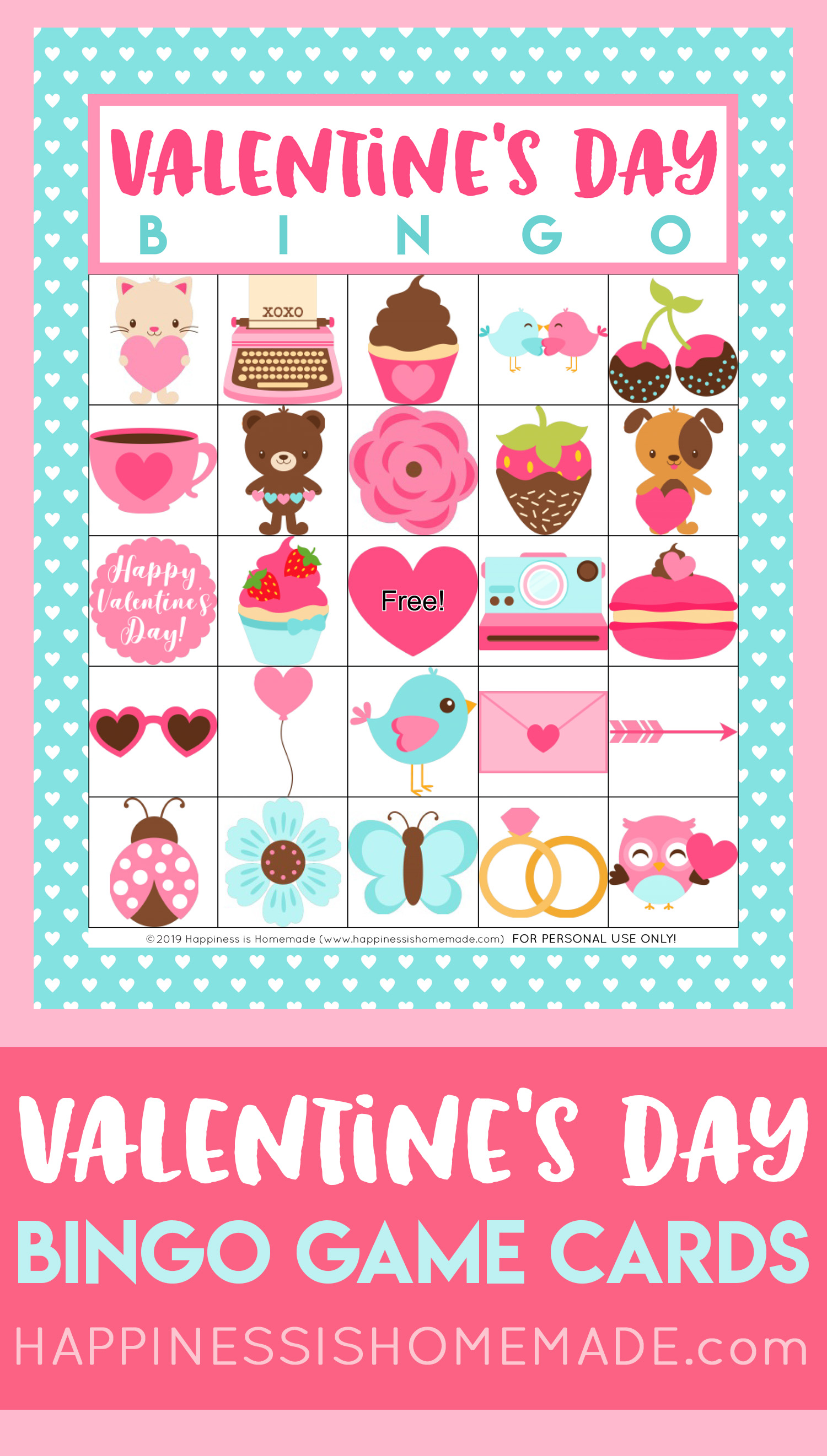 picture regarding Printable Valentine Bingo Cards named Free of charge Printable Valentine Bingo - Pleasure is Selfmade
