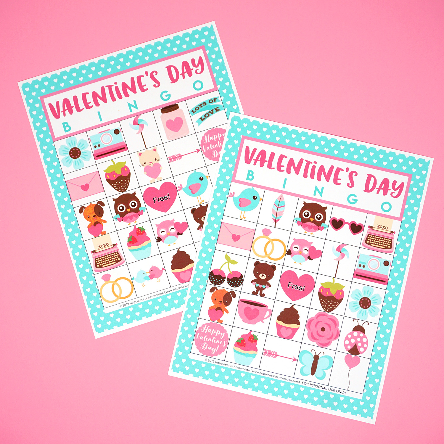 Free Printable Valentine S Day Bingo Cards Happiness Is Homemade