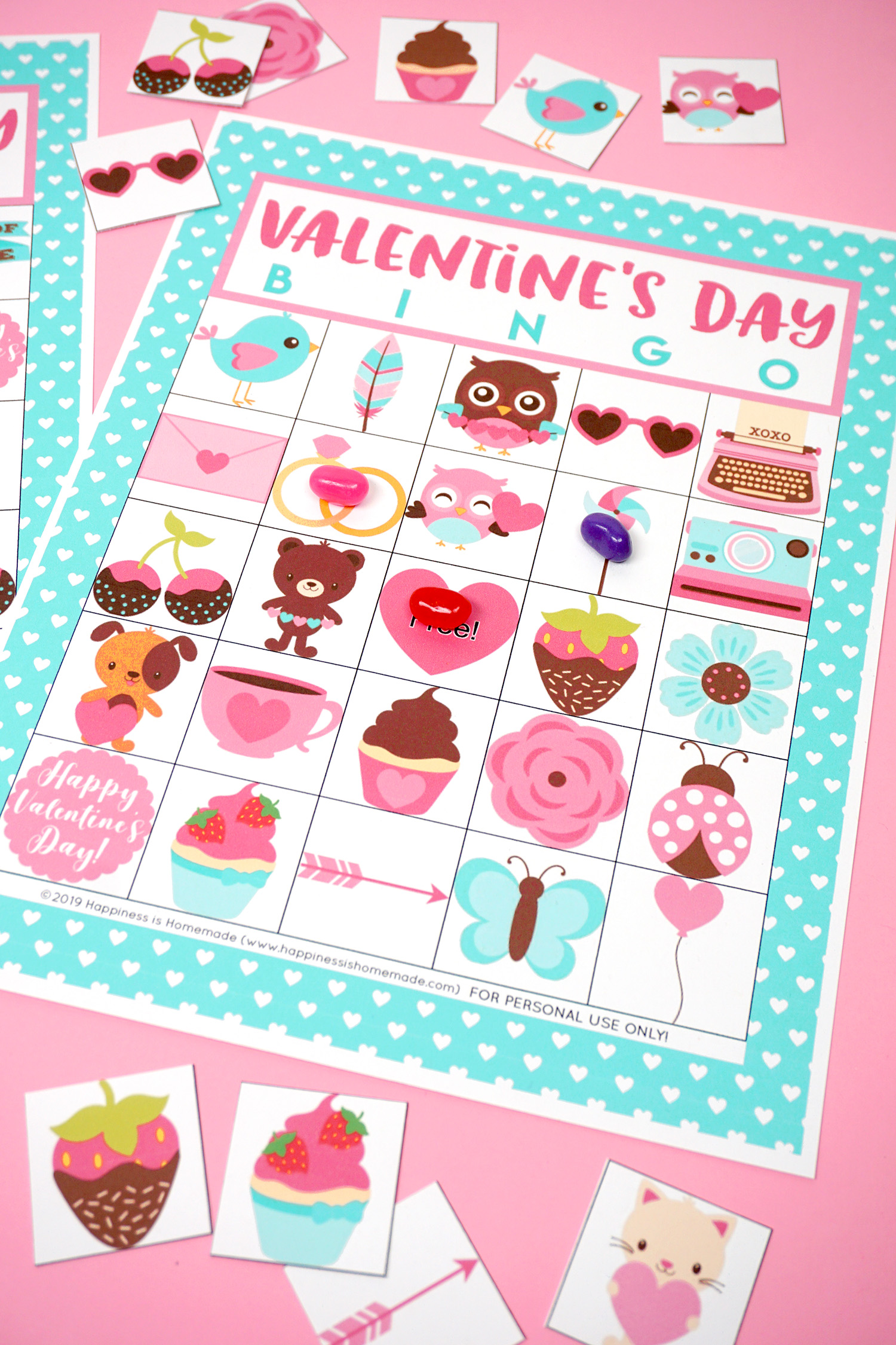 graphic relating to Printable Valentine Bingo Cards named Absolutely free Printable Valentine Bingo - Joy is Handmade