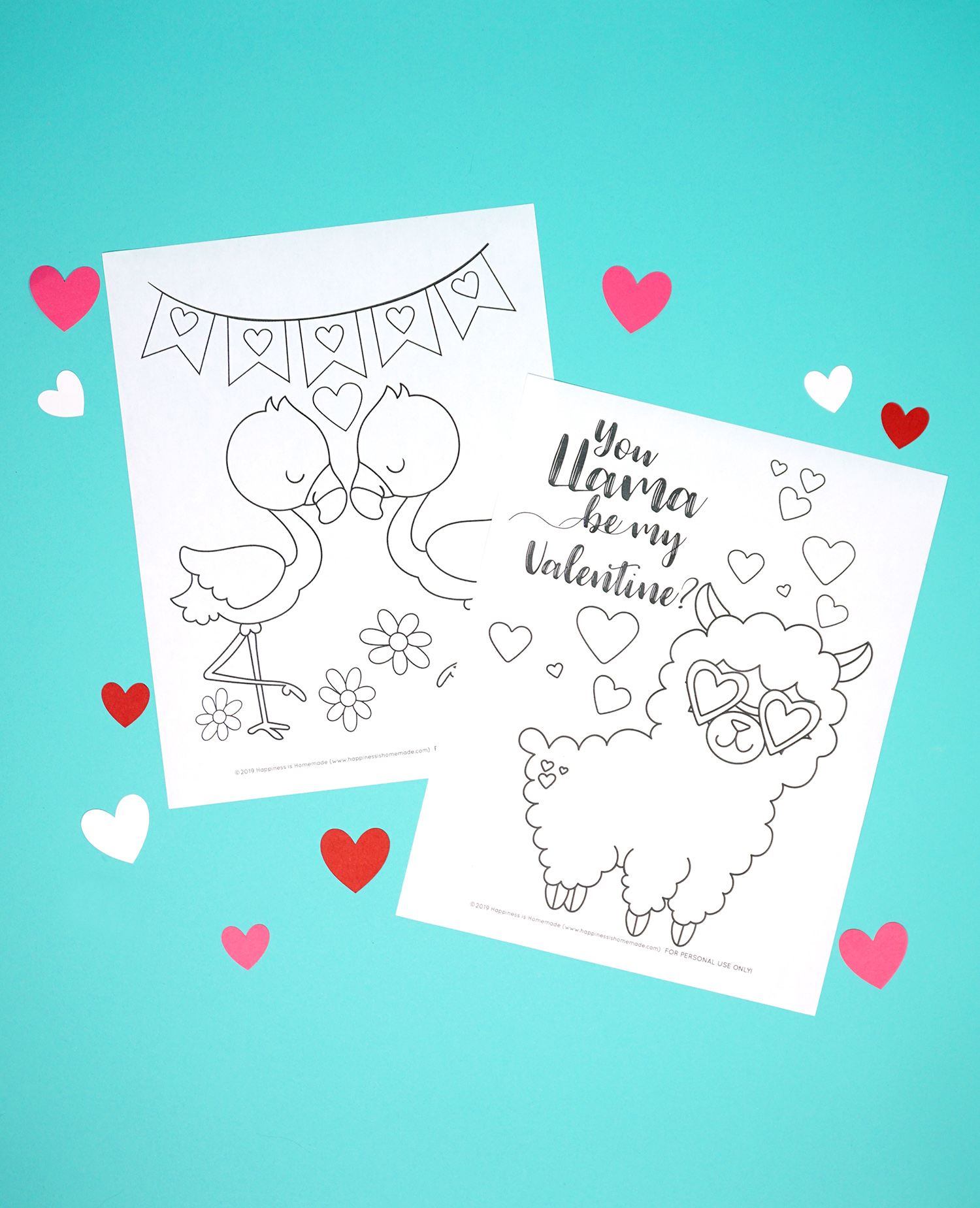 Printable Valentine Coloring Pages - Happiness is Homemade