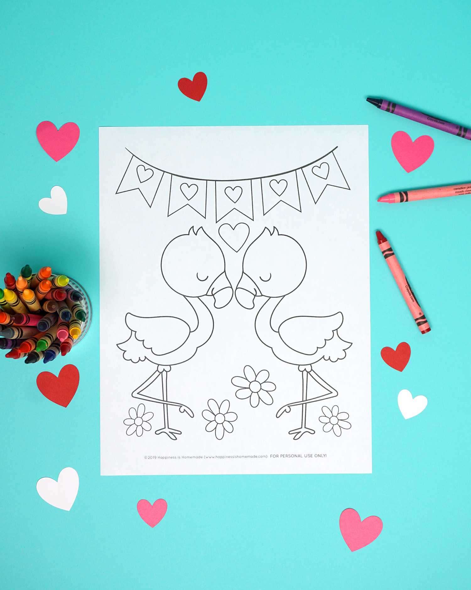 photo regarding Printable Valentine Coloring Page referred to as Printable Valentine Coloring Webpages - Contentment is Selfmade