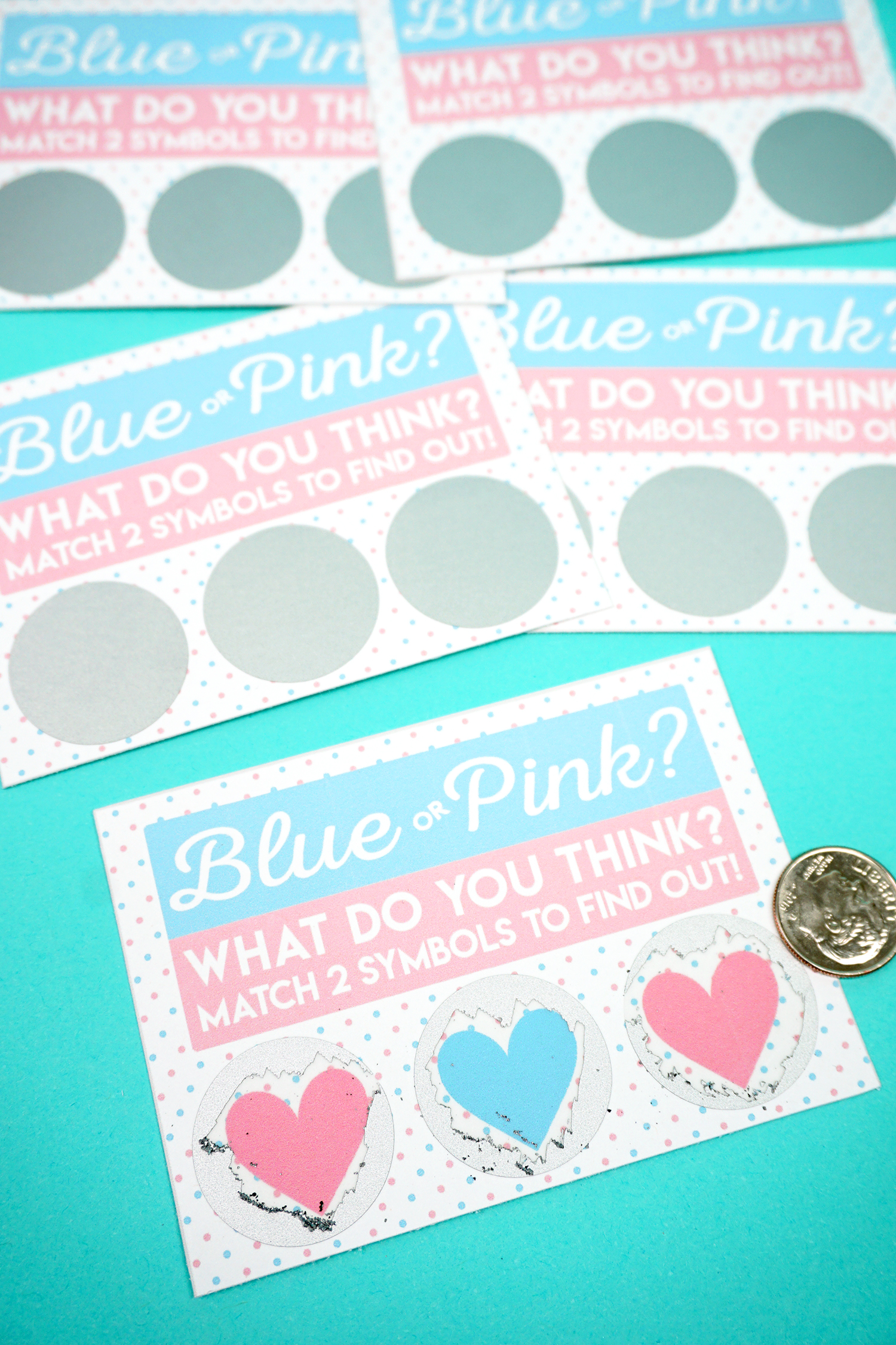 Free Printable Gender Reveal Scratch-Off Cards - Happiness is Homemade