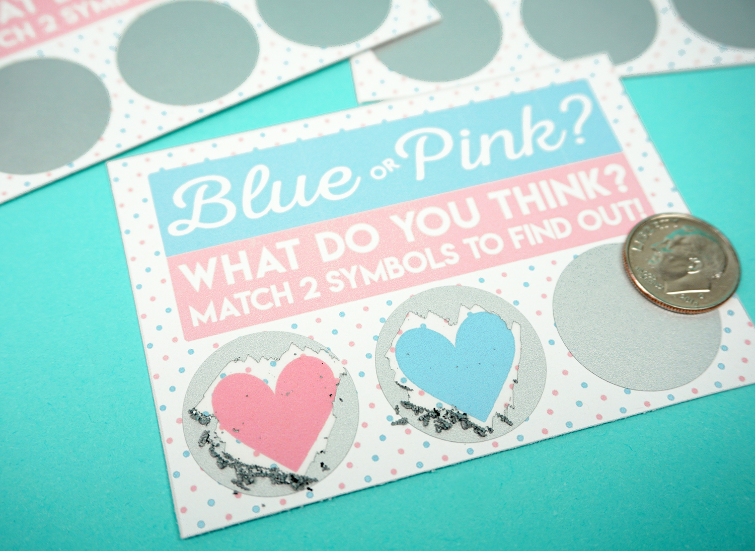 Free Printable Gender Reveal Scratch-Off Cards - Happiness ...