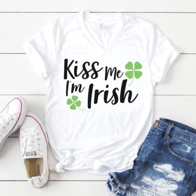 """Kiss Me, I'm Irish"" St. Patrick's Day SVGs"