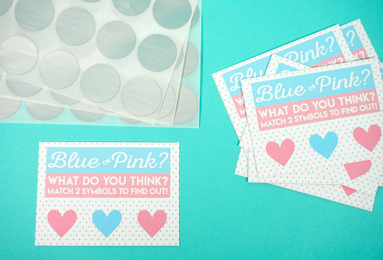 Free Printable Gender Reveal Scratch-Off Cards - Happiness