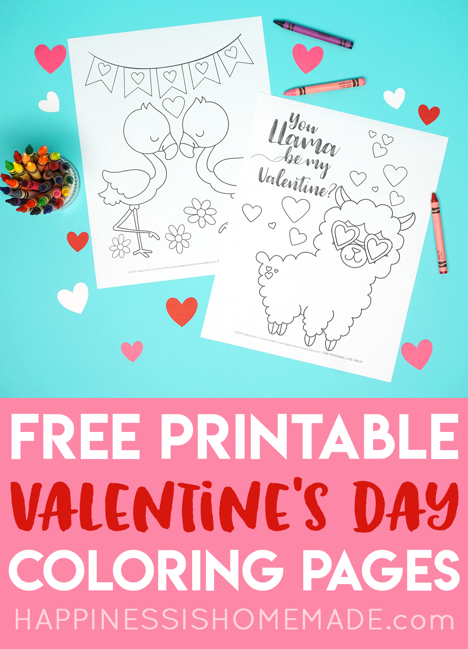 picture relating to Printable Valentine Picture called Printable Valentine Coloring Internet pages - Contentment is Handmade