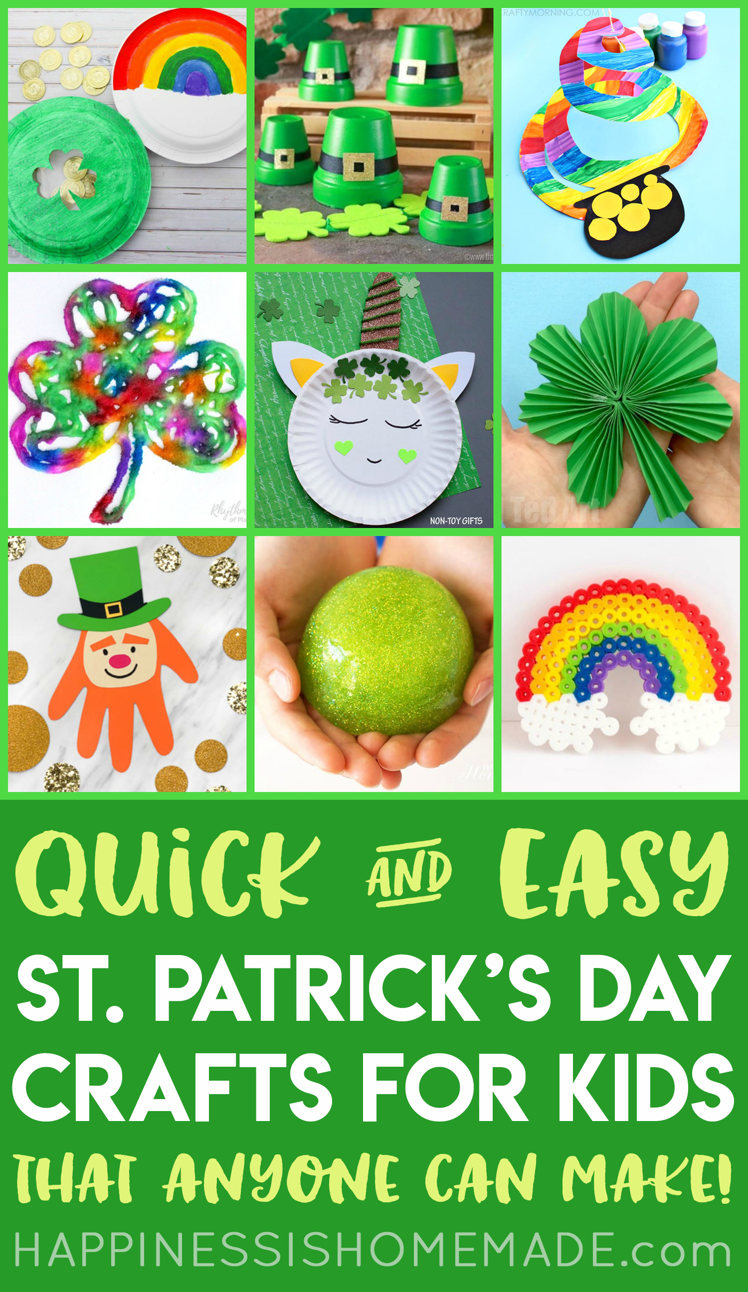 fbcd0a796 Looking for easy St. Patrick's Day crafts for kids? These fun St. Patrick's  Day crafts require no special tools or equipment (so ANYONE can make them!)  and ...