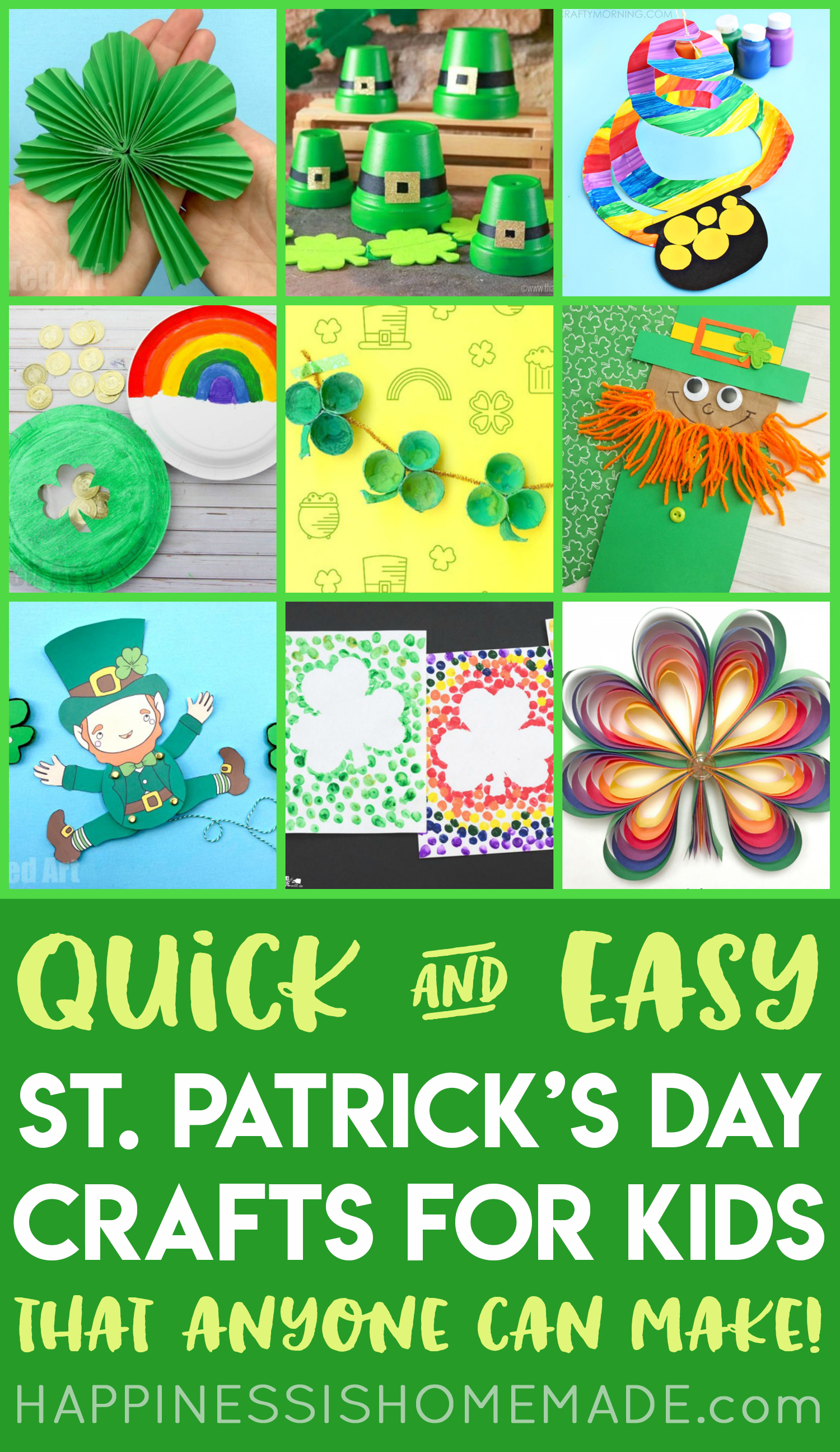 5db5b0472 Easy St. Patrick's Day Crafts for Kids - Happiness is Homemade