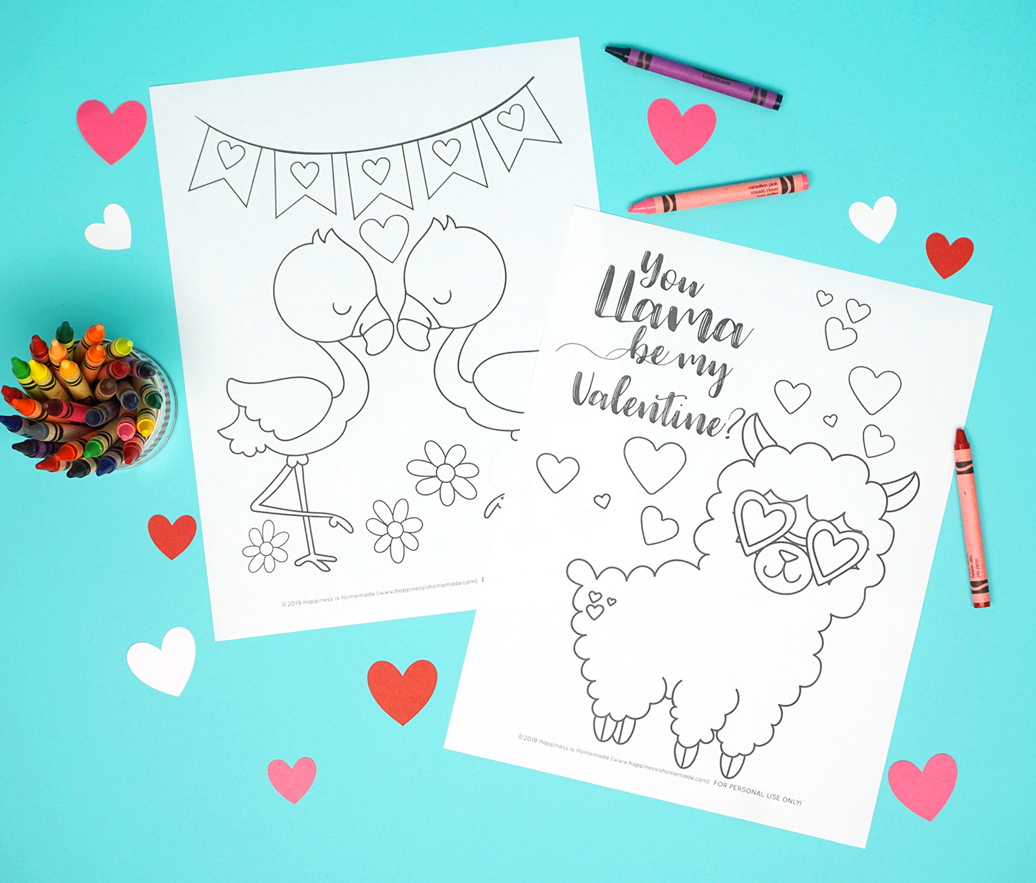 photograph relating to Printable Valentines Color Pages identified as Printable Valentine Coloring Web pages - Joy is Handmade