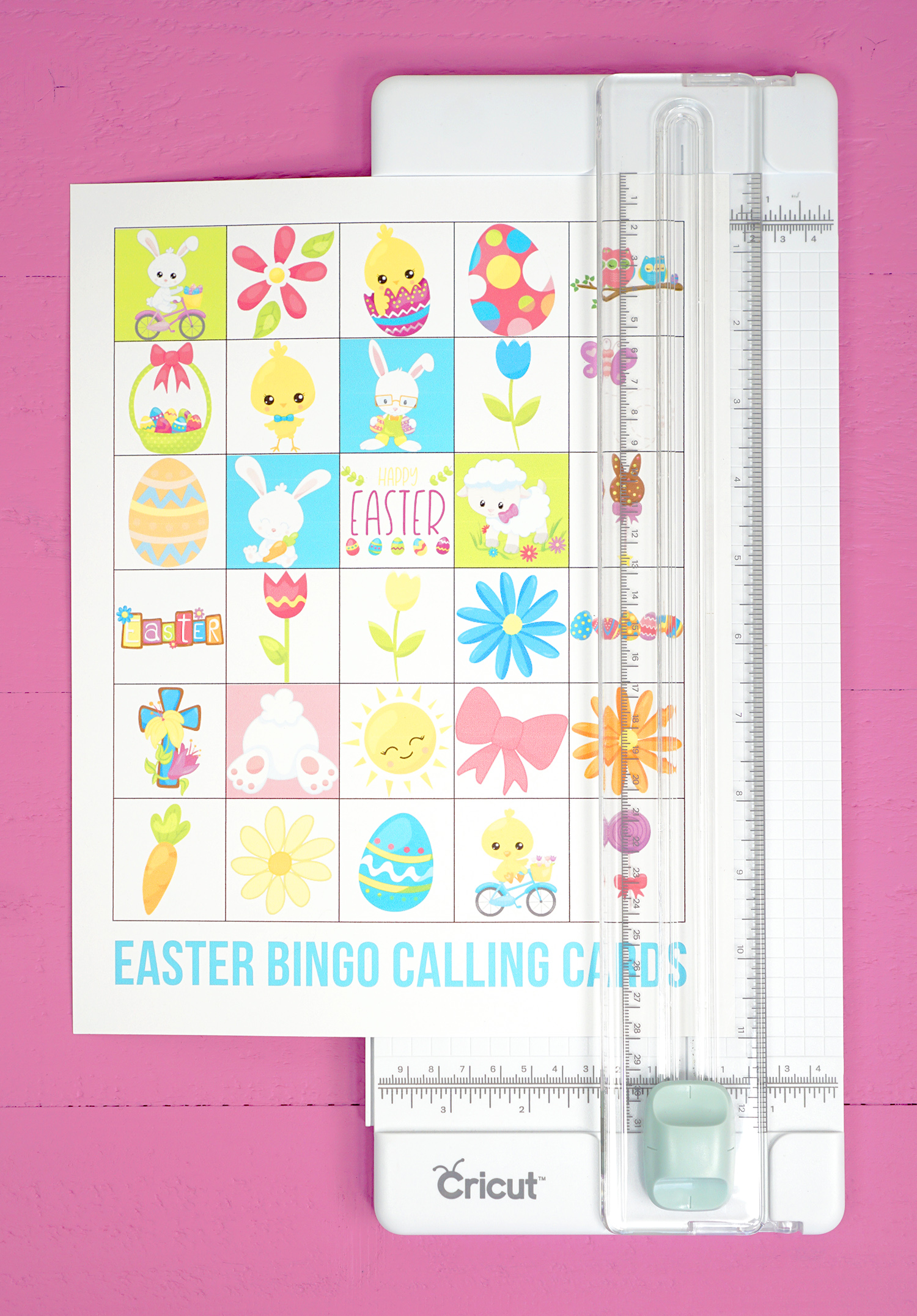 photo relating to Printable Bingo Calling Cards identified as Totally free Printable Easter Bingo Match Playing cards - Joy is Do-it-yourself