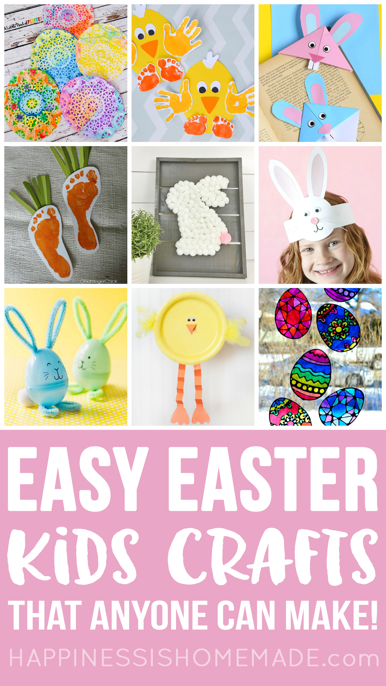 30+ Easy Easter Crafts for Kids - Happiness is Homemade