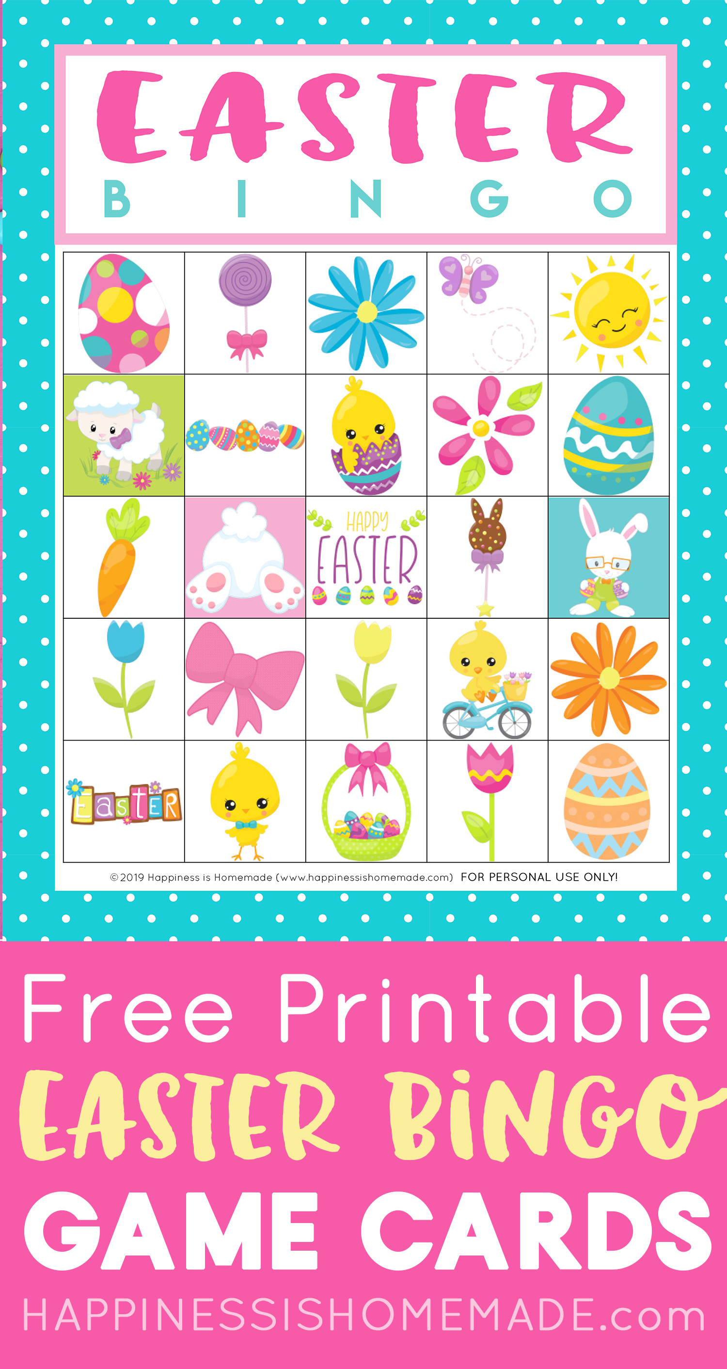 It is a graphic of Trust Printable Easter Bingo Cards