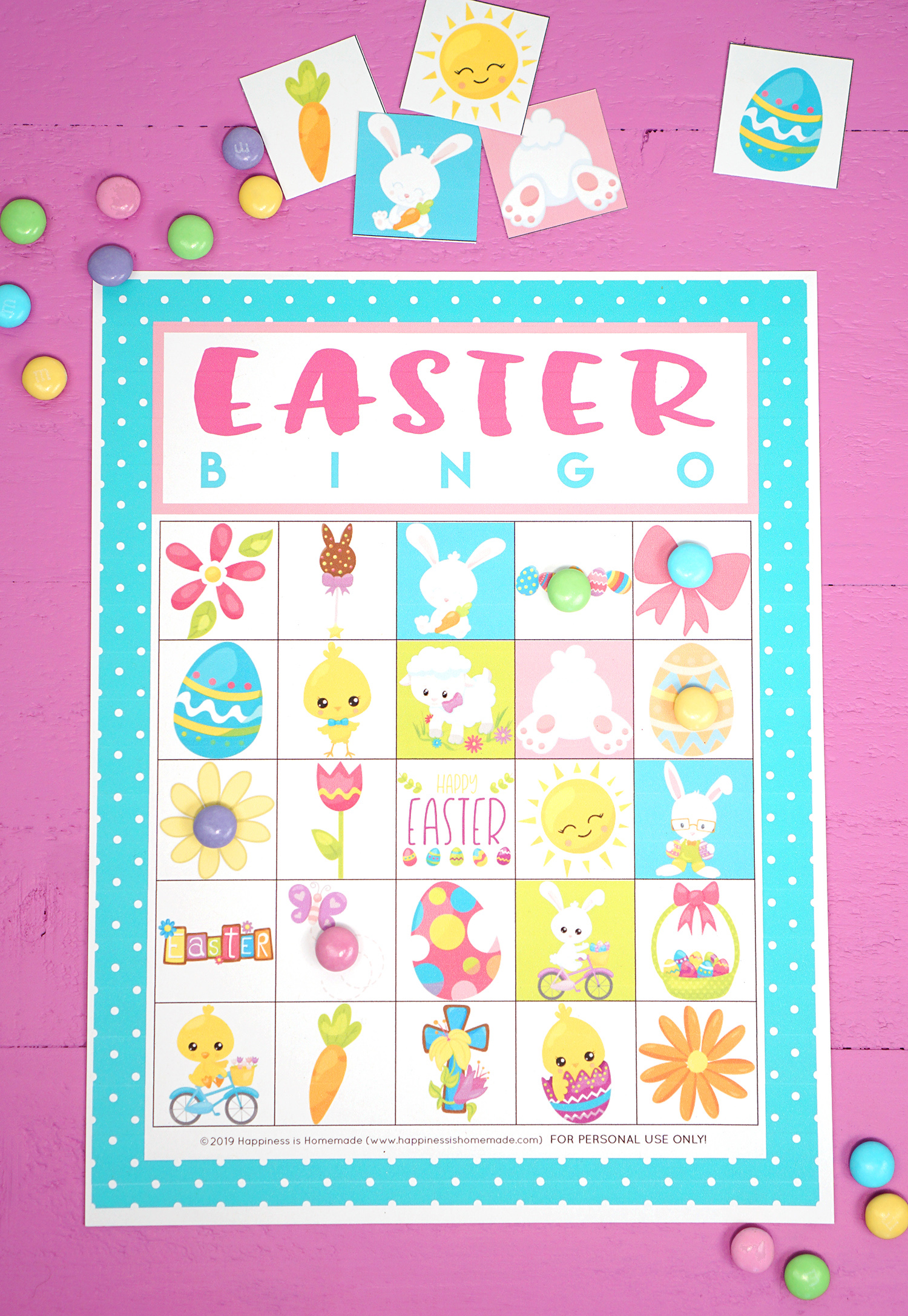 This is a graphic of Ambitious Printable Easter Bingo Cards