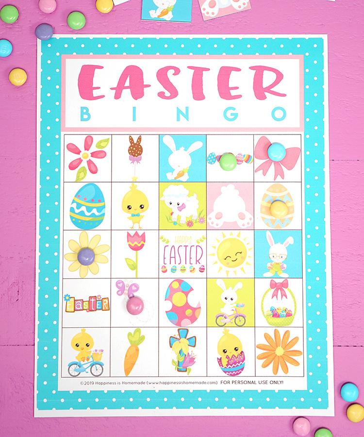 photo regarding Free Printable Easter Bingo Cards titled Totally free Printable Easter Bingo Sport Playing cards - Joy is Selfmade
